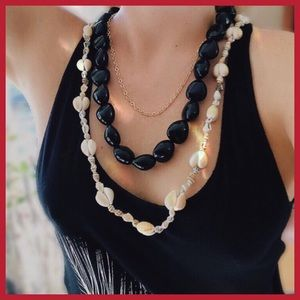 Jewelry - 🆕 BOHO SHELL Layering Necklaces x3 Hawaii Cowrie